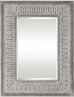 Uttermost 09455 Argenton Rectangle Distressed Taupe Ivory Wash Aged Gray Rectangle Mirror