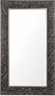 Uttermost 09473 Axel Distressed Steel Black with Metallic Silver Mirror