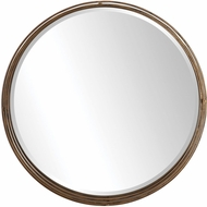 Uttermost 09474 Cannon Lightly Antiqued Metallic Gold Wall Mirror