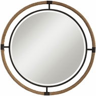 Uttermost 09475 Melville Textured Rust Black Wall Mounted Mirror