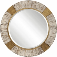 Uttermost 09478 Reuben Heavily Antiqued Metallic Gold Wall Mirror