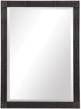 Uttermost 09485 Gower Rustic Aged Black Wall Mirror