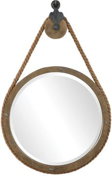 Uttermost 09490 Melton Aged Natural Wood Wall Mounted Mirror