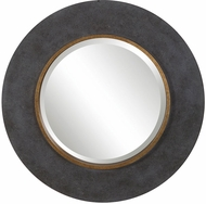 Uttermost 09491 Saul Mottled Charcoal Concrete Wall Mounted Mirror