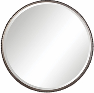 Uttermost 09496 Ada Burnished Steel Silver Wall Mirror