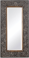 Uttermost 09499 Lucia Heavily Distressed Antique Black Metal Mirror