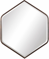 Uttermost 09525 Magda Warm Dark Bronze Wall Mirror