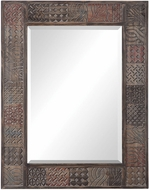 Uttermost 09537 Kele Gray Charcoal Subtle Blue Rust Red Wall Mirror