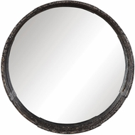 Uttermost 09538 Genovia Mottled Aged Black Wall Mounted Mirror