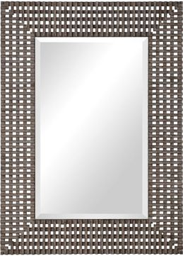 Uttermost 09557 Tarquin Crosshatched Wall Mirror