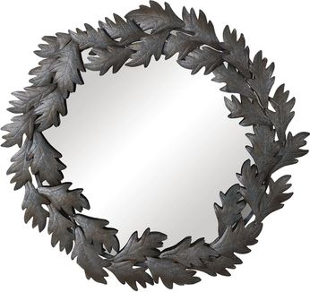 Uttermost 09578 Zandra Round Leaves Wall Mounted Mirror