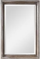 Uttermost 09596 Fielder Rustic Natural Wood Grain / Distressed Aged White 38 Tall Wall Mirror