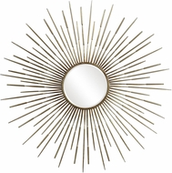 Uttermost 09602 Golden Modern Antiqued Gold Leaf Wall Mounted Mirror