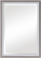 Uttermost 09603 Mitra Oatmeal / Gloss White Wall Mirror
