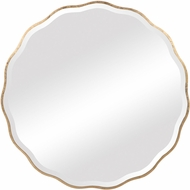 Uttermost 09611 Aneta Wooden / Aged Gold Mounted Mirror