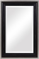 Uttermost 09614 Groveland Distressed Rustic Black / Champagne Silver Leaf Wall Mirror