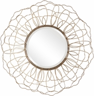 Uttermost 09619 Rosie Contemporary Solid Steel / Antique Gold Wall Mounted Mirror