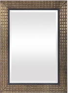 Uttermost 09632 Palo Stamped Metal / Antique Brass Mounted Mirror
