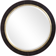 Uttermost 09633 Nayla Black Mirrored Tile / Antique Brass Wall Mounted Mirror
