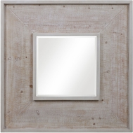 Uttermost 09638 Alee Distressed White Wall Mirror