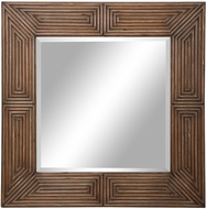 Uttermost 09682 Traveler Aged Chestnut Wood Stain Wall Mounted Mirror