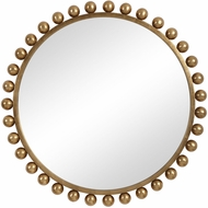 Uttermost 09695 Cyra Contemporary Gold Leaf Mirror