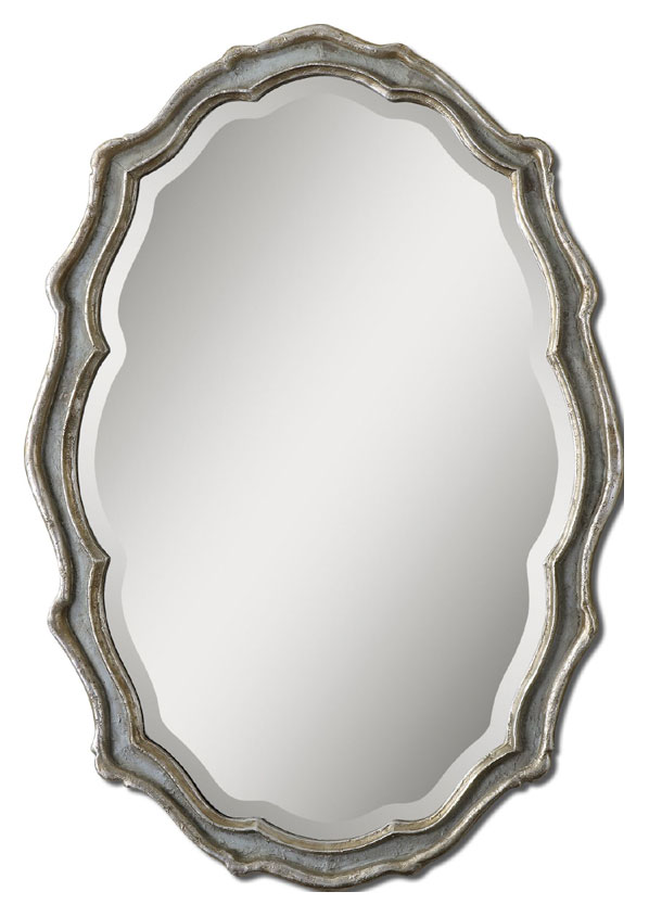 40 inch mirror wall mirror uttermost 12832 dorgali curved 40 inch tall aged slate blue beveled mirror loading zoom