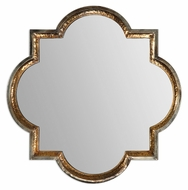 Uttermost 12862 Lourosa 39 Inch Tall Heavily Antiqued Gold Home Mirror