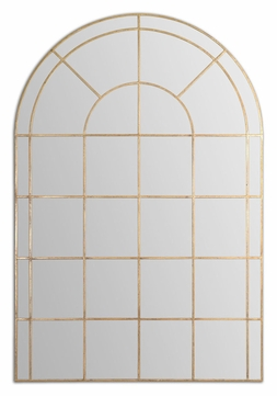 Uttermost 12866 Grantola Arching Hand Forged Wall Mounted Mirror - 71 Inches Tall