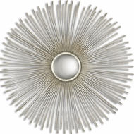 Uttermost 12888 Launa Round Silver 31.5 Tall Wall Mounted Mirror