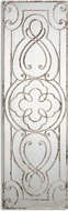 Uttermost 12897 Levante Aged White / Rust Black Hand Forged Metal Mirror