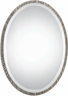 Uttermost 12924 Annadel Oval Polished Nickel Wall Mounted Mirror