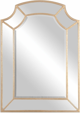 Uttermost 12929 Francoli Antiqued Gold Leaf Wall Mounted Mirror
