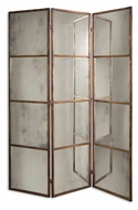 Uttermost 13364-P Avidan Wall Mounted 79 Inch Tall Mirrored Screen - Antique Gold Leaf