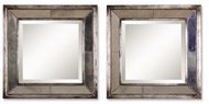 Uttermost 13555 Davion wall mirror squares in silver leaf finish