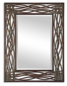 Uttermost 13707 Dorigrass 42 Inch Tall Mocha Brown Rectangular Mirror