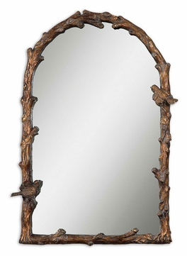 Uttermost 13774 Paza 36 Inch Tall Rustic Rounded Top Arch Mirror