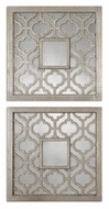 Uttermost 13808 Sorbolo Antiqued Silver Leaf 20 Inch Tall Small Square Mirrors