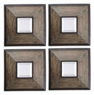 Uttermost 13817 Fendrel Pecan Wood Frame 16 Inch Tall Small Wall Mirrors