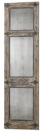 Uttermost 13835 Saragano Wall Mounted Beveled Segemented Wall Mirror - 77 Inches Tall