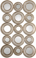 Uttermost 13920 Vobbia Burnished Silver Leaf / Antiqued Silver Champagne Metal Circles Mirror