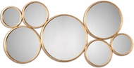 Uttermost 13934 Kanna Lightly Antiqued Gold Leaf Wall Mounted Mirror