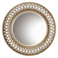 Uttermost 14028-B Entwined Wall Mounted 45 Inch Diameter Round Home Mirror