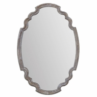 Uttermost 14483 Ludovica Aged Wood Finish 35 Tall Wall Mounted Mirror