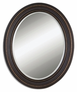 Uttermost 14610 Ovesca Oval 34 Inch Tall Wall Mounted Mirror - Dark Oil Rubbed Bronze