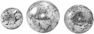 Uttermost 18584 Anahi Contemporary Textured Silver Spheres (set of 3)