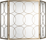 Uttermost 18594 Alayah Contemporary Gold Fireplace Screen