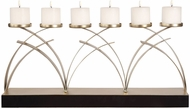 Uttermost 18623 Nikolas Contemporary Lightly Antiqued Silver Candleholder
