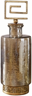 Uttermost 18954 Neev Modern Heavily Antiqued Gold Luster Glass Decanter