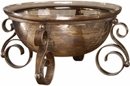 Uttermost 18955 Alya Contemporary Aged Bronze Glass Bowl